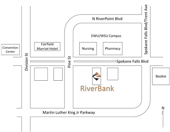 Map to RiverBank location